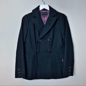 BANANA REPUBLIC Black Double Breasted Pea Coat XS